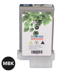 PFI 102-104 Matte Black ink cartridge for Canon plotter printer