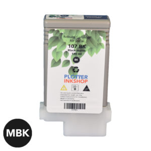 PFI 107 Matte Black ink cartridge for Canon plotter printer
