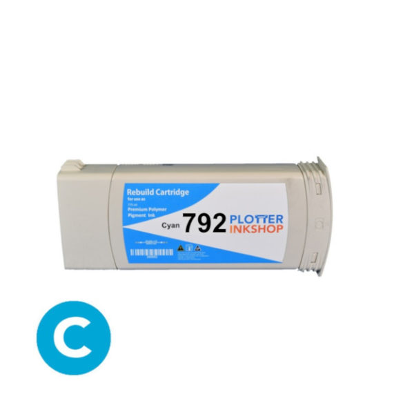 No792 cyan ink cartridge for HP plotter